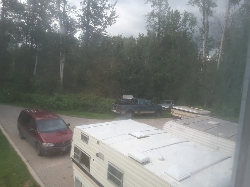 My front yard... Parking lot